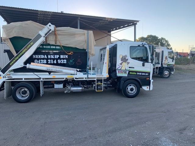 Big Rat Skip Bin Trucks ready to deliver Skip Bins
